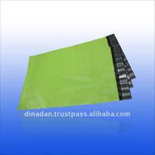 Coloured polythene mailing bags