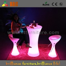Glow table for Club bistro, glowing furniture with rgb led