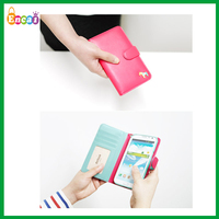 Encai Fashion Crown Samsung Note3 Cellphone Holder/ Mobile Phone Case /Cell Phone Glove With Cards & Ticket Holder