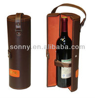 Hotest sale PU leather wine carrier