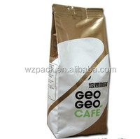 Aluminium foil coffee bag with filter and tin tie
