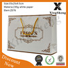 wholesale high quality promotion paper gift shopping bag white kraft paper sack