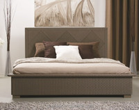 2B418 bedroom high-qualitied rattan bed