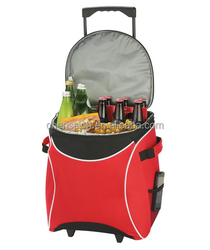24 can rolling cooler trolley bag on wheels