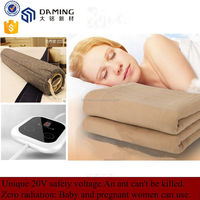 Real safe exclusive patented technology 20v electric blanket with 9 temperature selection controller