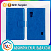 Fancy leather flip case for lg optimus l5 ii e450 e460