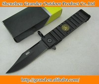 AK-47 tactical folding knife combat knife 440C 57HRC blade aluminum handle 0073