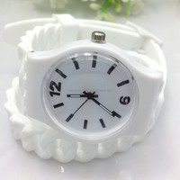 long strap geneva silicone watch for women