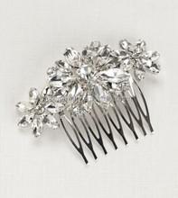vintage diamonds hair comb