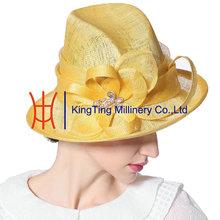 Kentucky Derby Wide Brim Fuchsia Hat