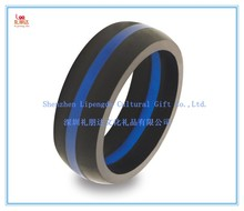 Good promotion American size 8 diameter 18.2 mm rhinestone silicone finger ring with rhinestone,custom silicone finger rings