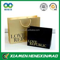 Wholesale products paper grey shopping bag grey shopping bag