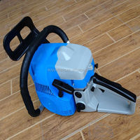 52cc,5200 gasoline chain saw,two hole muffler,blue color with high quality plastic body