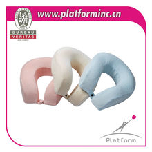 GSV Certification factory new design memory foam pillow, healthy and comfortable waves u shaped pillow