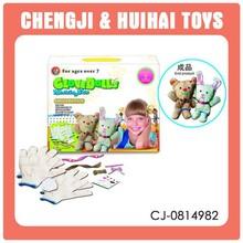 Ages over 7 kids handwork crafts set glove dolls makeing kit