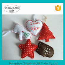 paper pulp crafts of star garland with pine cone for christmas ornaments