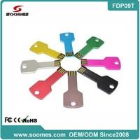 Best-seller various colors Metal key shape usb pen drive usb key