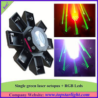 china top ten selling products single green+177*10mm rgb leds green laser octopus concert laser light