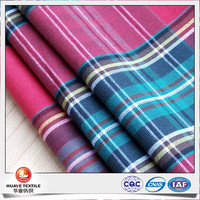 100% cotton herringbone twill plaid flannel fabric for making clothes