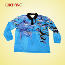 100% polyester custom fishing jerseys