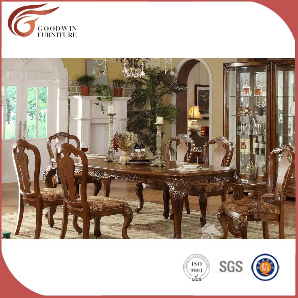 New style baroque table de salle manger ensemble a13 for Salle a manger baroque