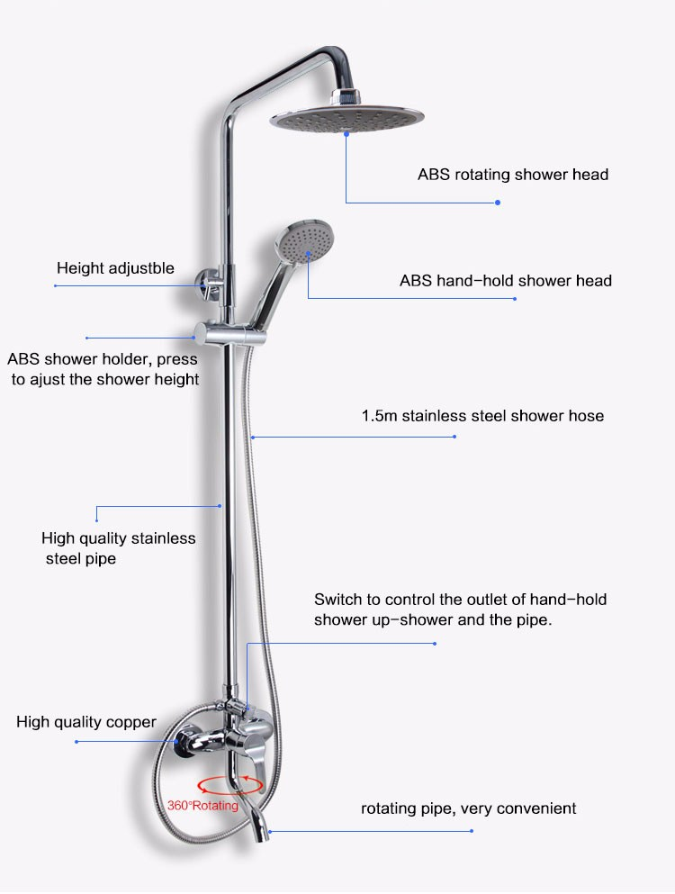 European Bathroom Faucets Plumbing Fixtures Sets Cheap Shower Head ...