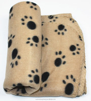 lovely pet paw print fleece blanket