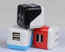 Factory Price Folding 5V 2.1A Dual USB Mobile Phone Charger UL Certificated