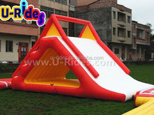 Aquaglide freefall inflatable water sport slide for lake