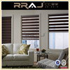 Elegant Living Room Double Shade Manual Zebra Blinds or Curtain