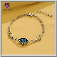 Latest Luxury dark blue designer diamond bracelet kada for women
