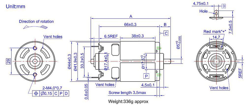 Cropper motor,power tool motor,24V dc electric motor,775 motors