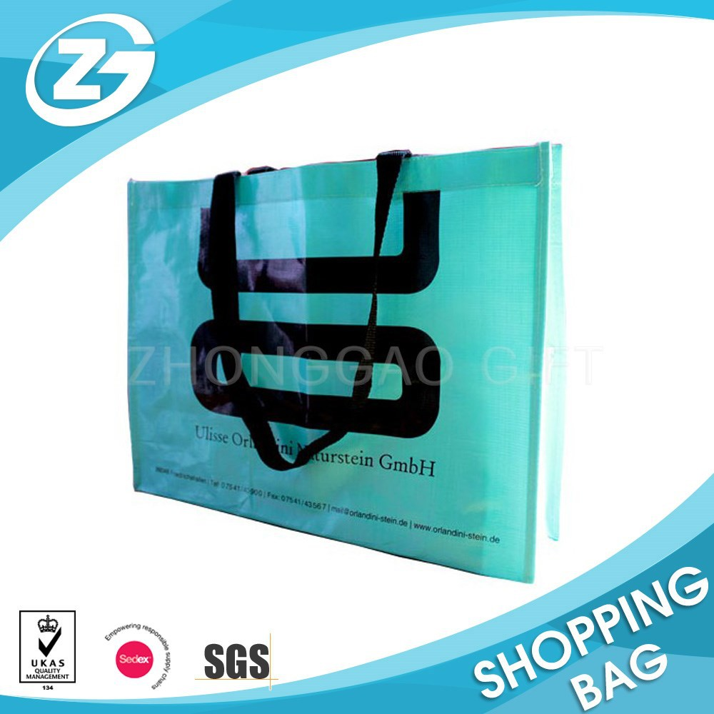 Promotional Shiny Pantone Color Laminated PP Woven Shopper