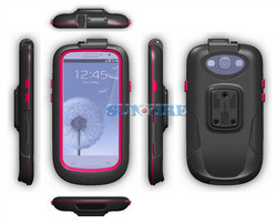 for Galaxy S3 S4 Waterproof bike case, Bicycle Handlebar Mount Holder Stand Case