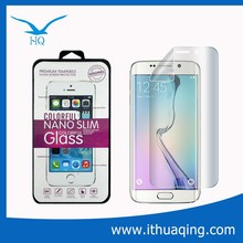 best quality laptop tempered glass screen protector for samsung s6 edge