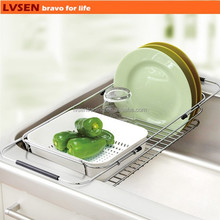 adjustable wire kitchen sink dish drainer