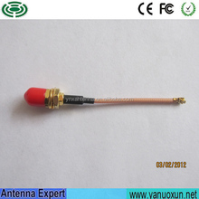 High Power 10cm Cable Pigtail Cable For Communication Waterproof Pigtail Cable U.FL To SMA