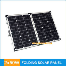 2*50W portable solar panel charger