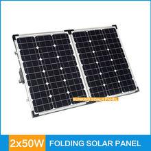 2*50W portable solar panel