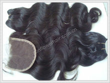 Wholesale price for virgin Malaysian hair weave extension and closure to match 5a grade human hair