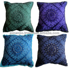 25pcs Mirror Work Embroidery Indian Sari Throw Pillow Toss Cushion Covers Wholesale lot