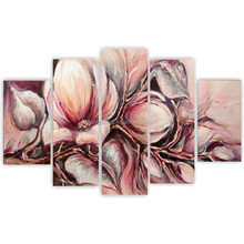 Hand painted Flower Oil Painting on Canvas,2015 newest modern flower oil painting on canvas for wall art decor