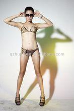 Coffee Print Lady Sexy Hot Bikini Swimsuit