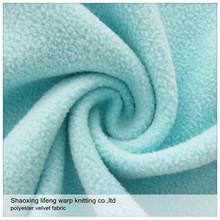 La variedad color100% poliéster súper suave tela de forro polar