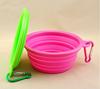 Wholesale FDA LFGB Standard Food grade Eco-friendly folding silicone dog bowl