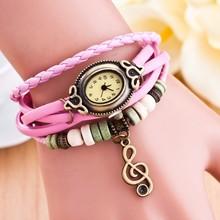 2015 Hole sale leather band vintage wrist watch women dress quartz watch fashion cheap vintage retro watches