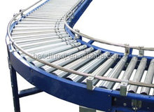 D&D spring loaded gravity stainless steel conveyor roller with galvanized steel end cap