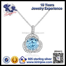 100% Handmade 925 silver zircon charms and pendants