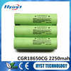 18650 2250mAh - CGR18650CG 3.6V li-ion rechargeable battery cell for Panason - Free Samples