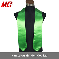 Wholesale Univeral adult graduation sash Satin Emerald Green